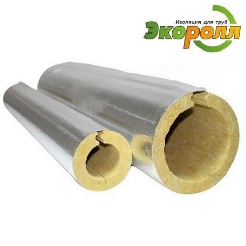 Цилиндры минераловатные ЭКОРОЛЛ ФА с покрытием из алюминиевой армированной фольги (Г1)